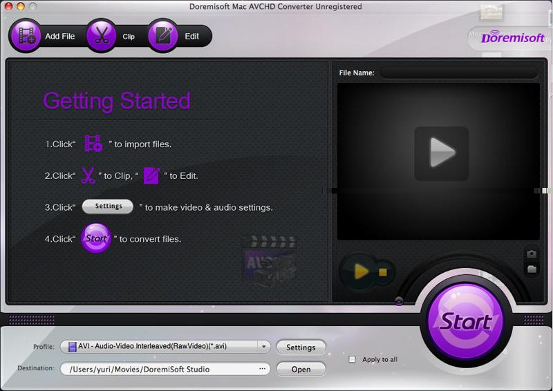 Mac AVCHD Video Converter Mac AVCHD Converter