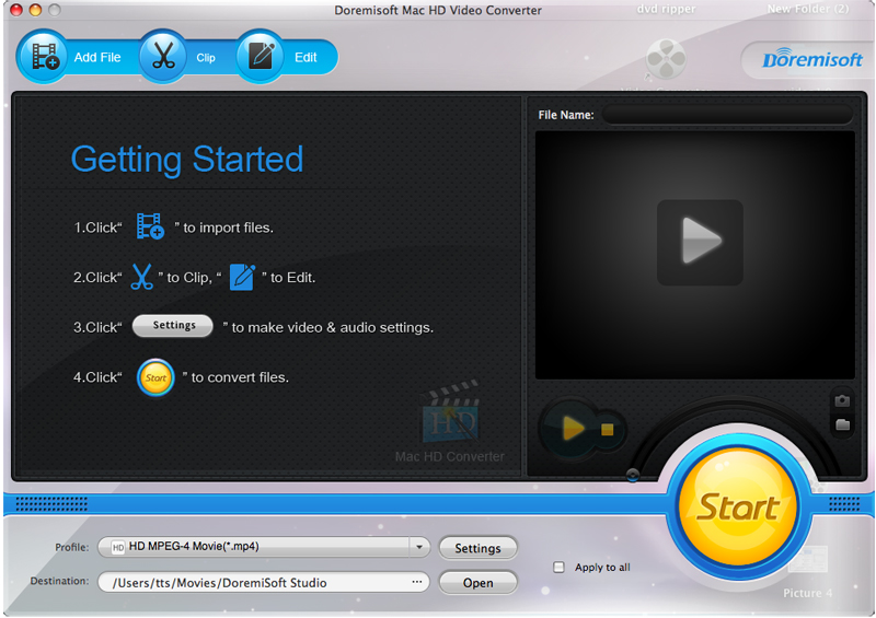 Doremisoft Mac HD Video Converter 1.0.1
