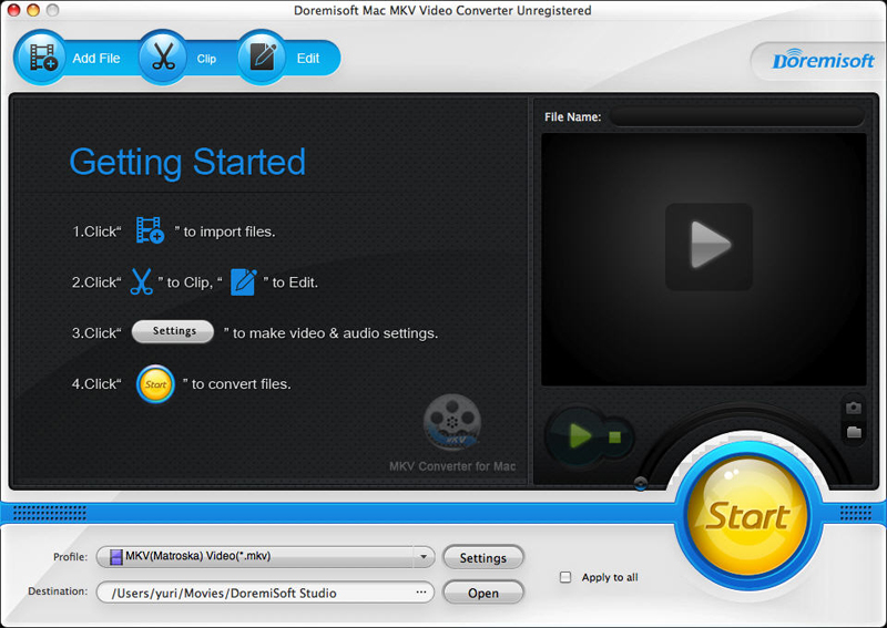 Doremisoft Mac MKV Video Converter 1.0.1