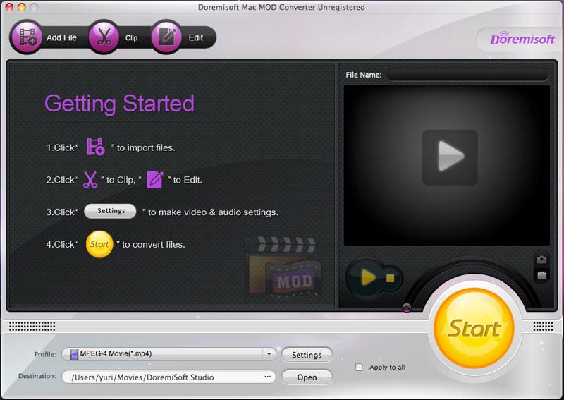 Doremisoft MOD Converter for Mac, Mod tools