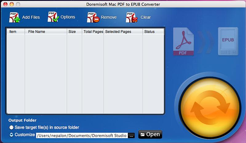 Doremisoft Mac PDF to EPUB Converter 2.0.1