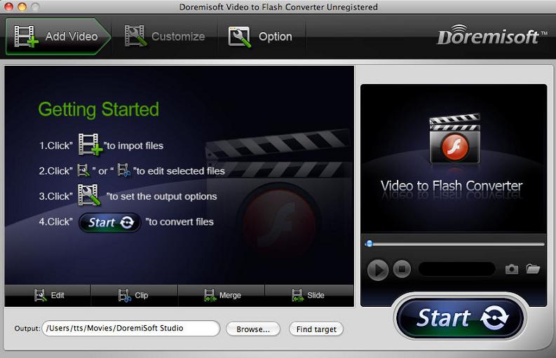 Mac Video to flash Converter, Flash encoder