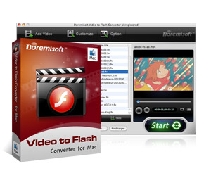 Doremisoft Mac Video to Flash Converter