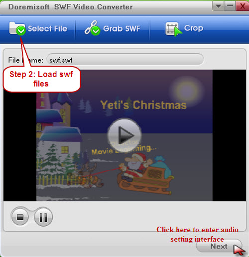 Doremisoft SWF Video Converter Mac Screenshot