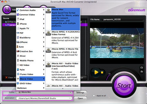 Sony HDR AVCHD to iMovie