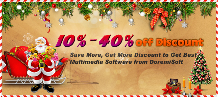 Doremsoft Christmas offer - up to 35% off discount