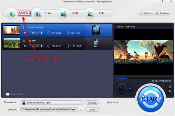how to add photos to mp4 file