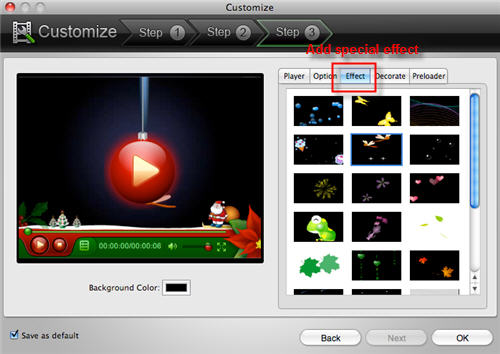 Convert video to flash FLV/SWF on Mac.