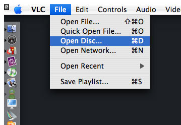 open dvd on vlc mac