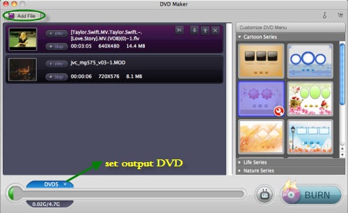 add video iDVD Alternative   Mountain Lion DVD Burner