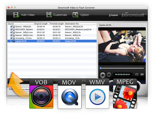 Video to flash converter for mac OS X Lion, create a flash