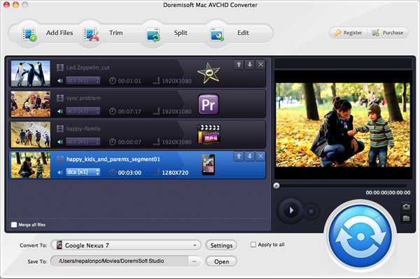 Add Sony Handycam MTS Video to Mac