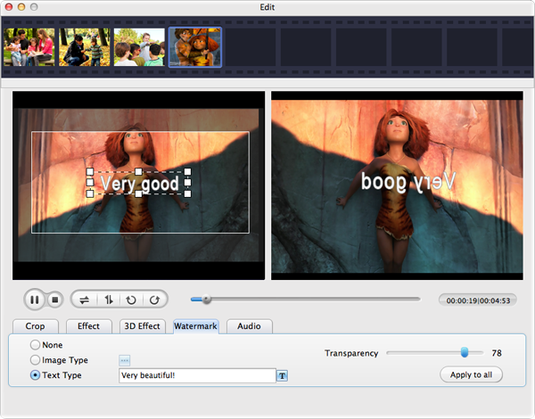 how to add a watermark to video in imovie