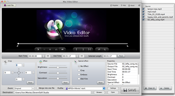 load your Mino HD video file into the Flip Mino HD Editor Mac software