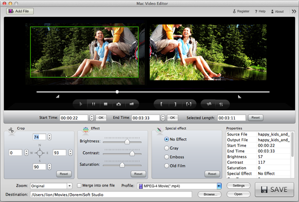 trim Flip videos on Mac