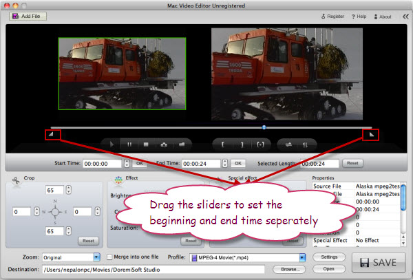 Trim MTS video on Mac